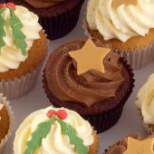 Christmas Cupcake Selection-box
