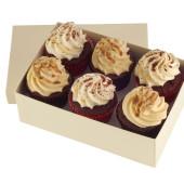 peanut butter red velvet cupcakes x 6