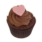 valentines day chocolate pink heart cupcake
