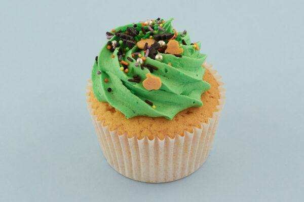 Green Halloween Cupcake