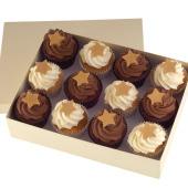 Chocolate Christmas Cupcakes x 12