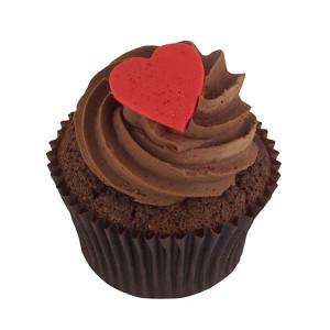 Chocolate Heart Cupcakes