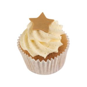 Vanilla cupcake with gold star